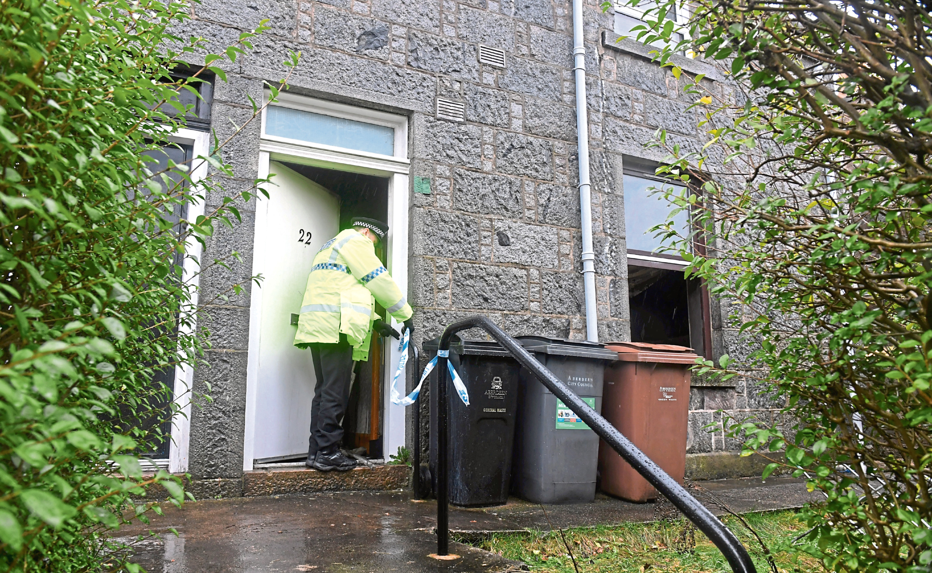 A man died in the fire at Gladstone Place, Aberdeen