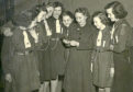 Doris is fifth from the left and Elma is second from the right in this picture from 1950