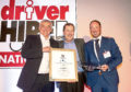 Grant Wilson, winner of Driver Hires David Walter Silver Salver Award with Chris Chidl