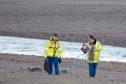 The bomb disposal team at Aberdeen beach