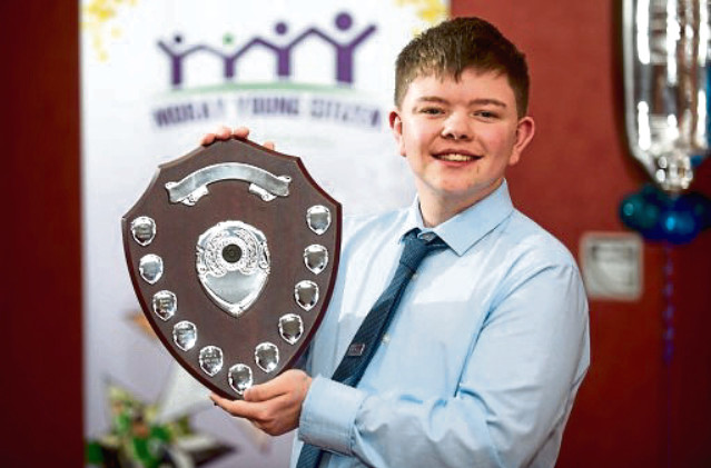 Aidan Henderson from Elgin Academy was crowned Moray Young Citizen 2019