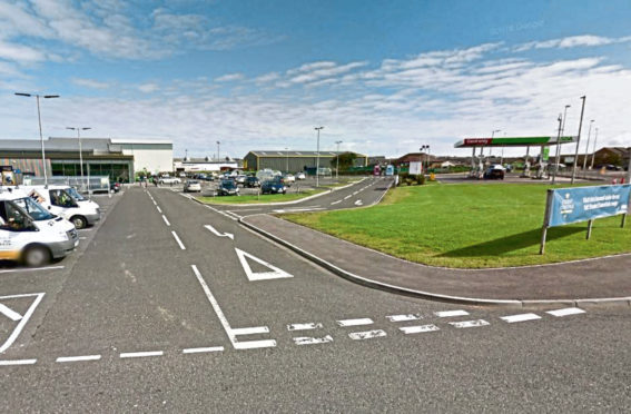 The site is beside the Asda store