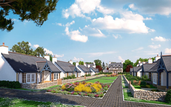 An artist's impression of how the residential estate at Menie could look