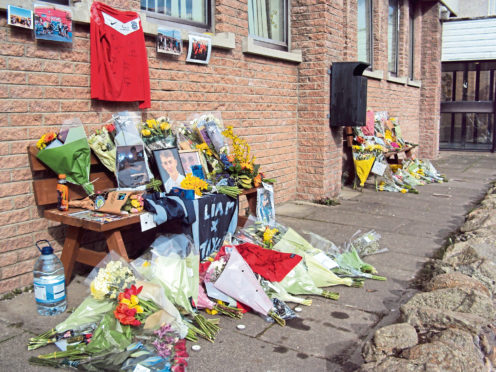 Tributes to Liam have been left at Westhill Academy
