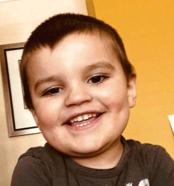 Funds are being raised to take Lochlann Vaughan for therapy