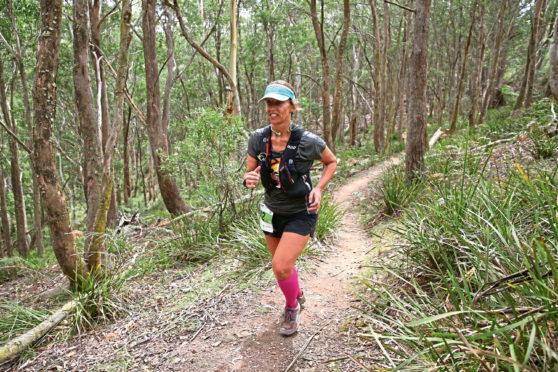 Claudia Ferrari during a training run