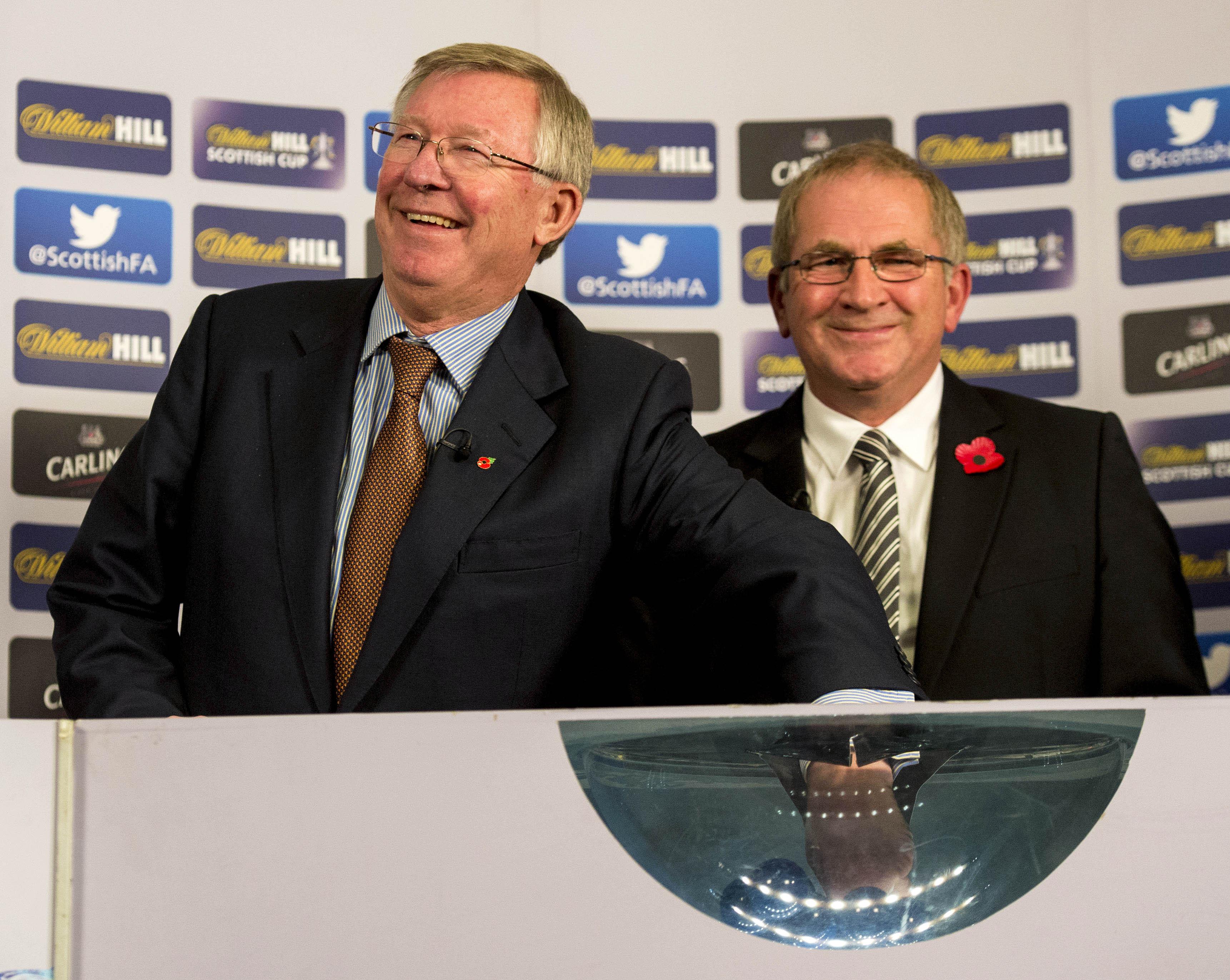 Sir Alex Ferguson, left and Alan McRae.