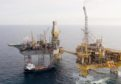 Total's Elgin PUQ platform, pictured right, alongside a Rowan rig