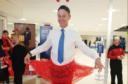 Ian Waite at Aberdeen airport