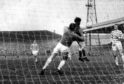 Harper heads the only goal in an away win over Celtic during the 1970-71 season