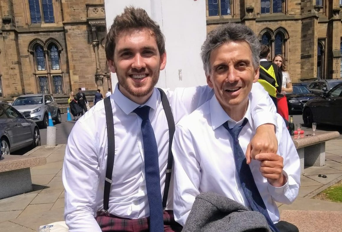 David Hewitt with his dad