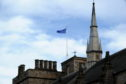 Kings College is flying the EU flag
