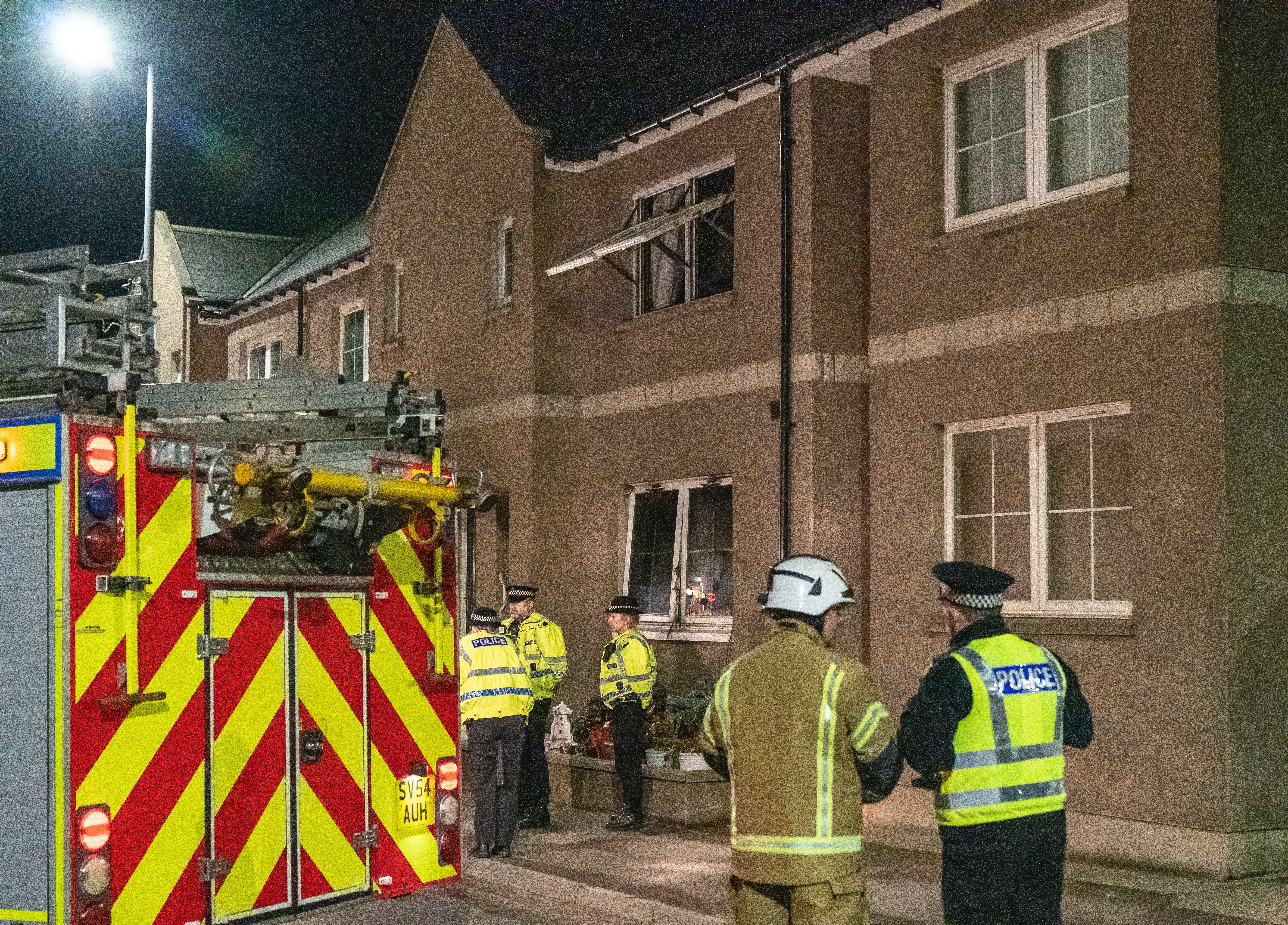 Fire crews were called to  the property in Keith