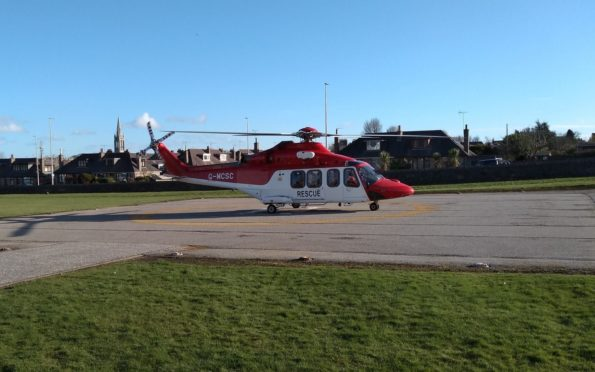 Rescue helicopter Bond 1. Picture taken by Aberdeen Coastguard Rescue Team