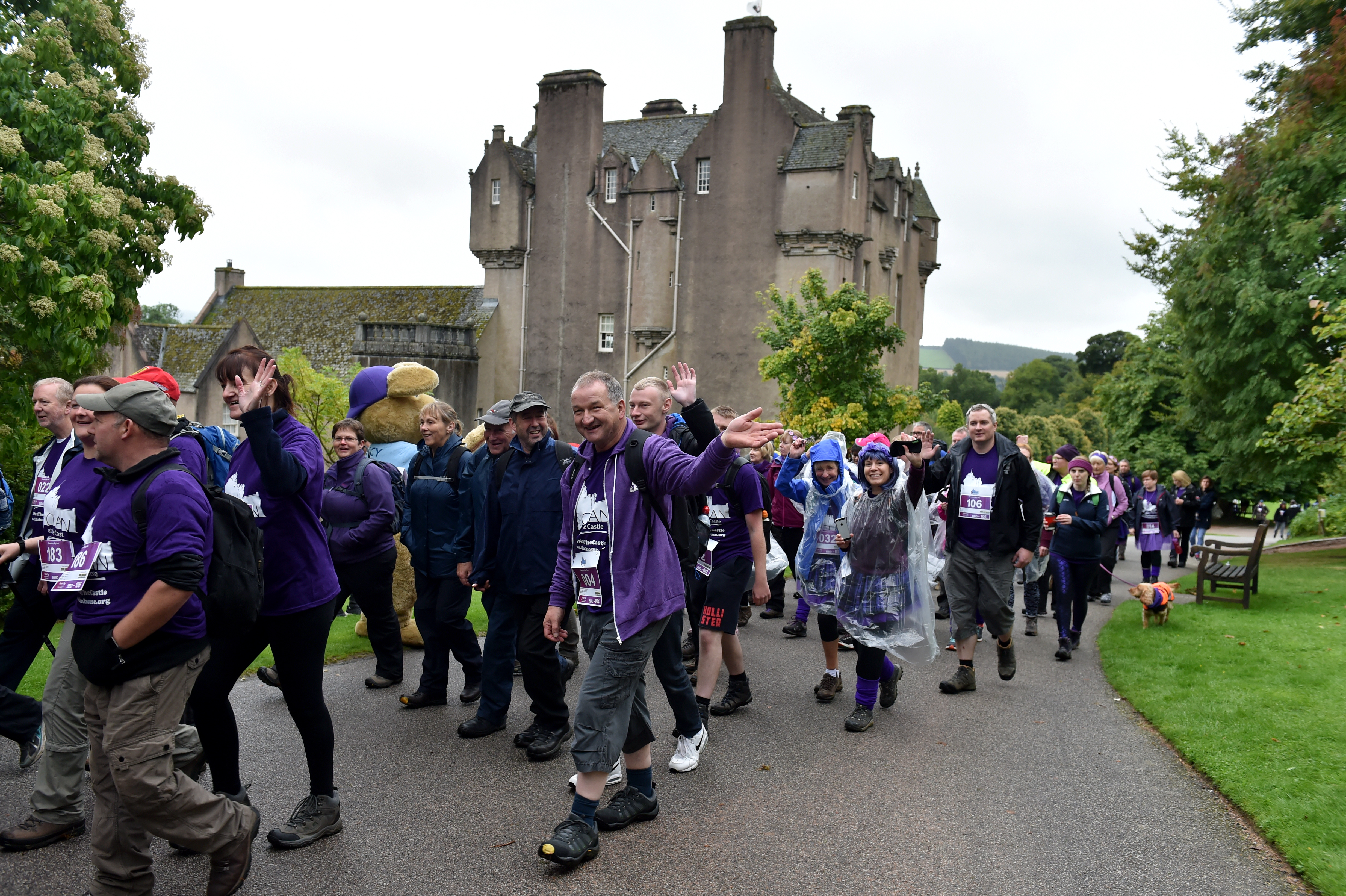 Some of the walkers during last year's event