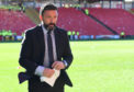 Aberdeen manager Derek McInnes at Pittodrie
