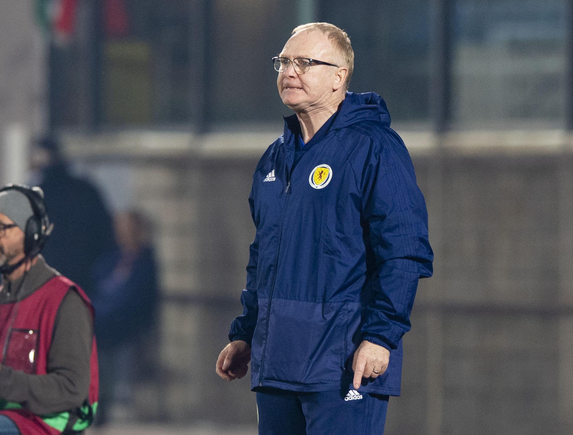 Scotland manager Alex McLeish in San Marino.