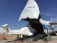 The Antonov 124 transported two helicopters from the UK to Melbourne, and then brought two others back to the UK