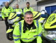 Road policing Chief Inspector Stewart Mackie with officers at last year's launch