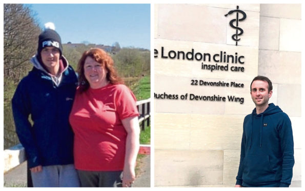 Cammy with mum Katy, left and Paul, right, who has been inspired to donate