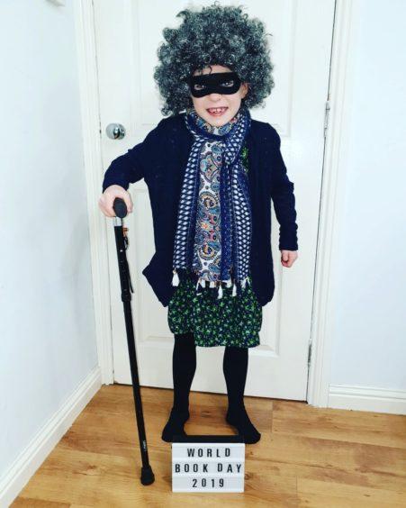 Blake Brewster, 7, looking cool as Gangsta Granny by David Williams