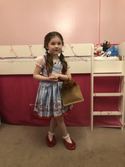 Abbey Laing, 5, as Dorothy Gale from the classic tale Wizard of Oz