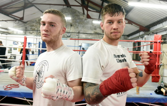 Aberdeen boxers, Billy Stuart, left and Dean Sutherland.