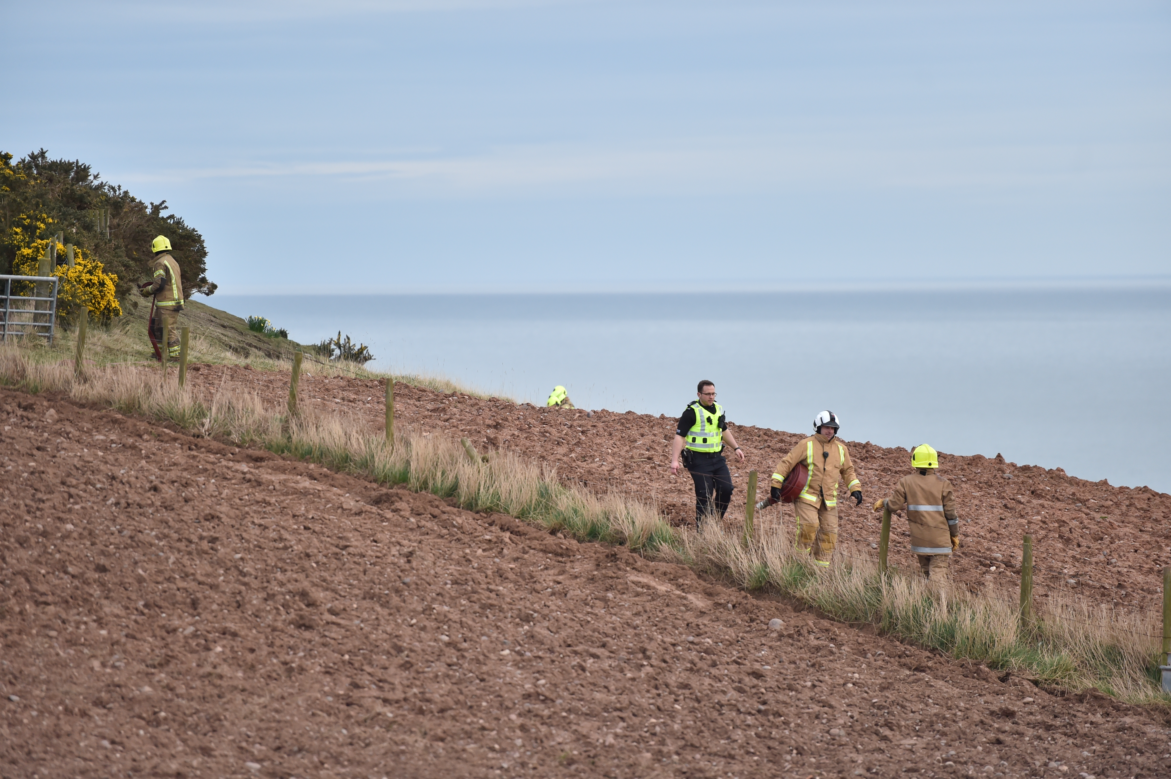 Reports of the incident were made at 3.48pm, at the Stonehaven war memorial, near Dunnottar Castle
