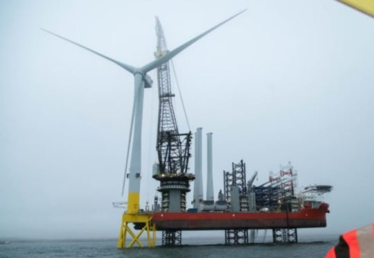 EOWDC first turbine installation AE