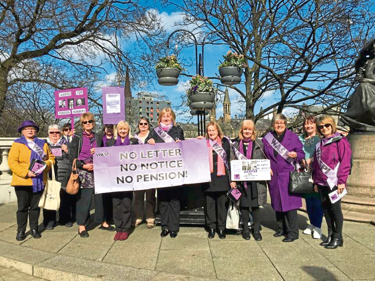 The Aberdeen branch of the Waspi campaign 2018 has held a pair of pickets over the last two weeks at the base of the statue of King Edward VII on Union Terrace