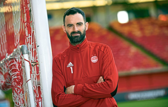 Aberdeen goalkeeper Joe Lewis at Pittodrie.