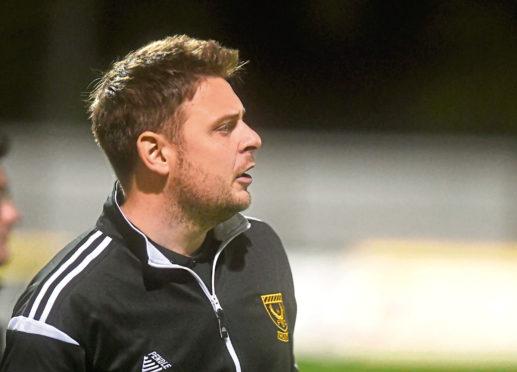 Huntly FC's manager Martin Skinner