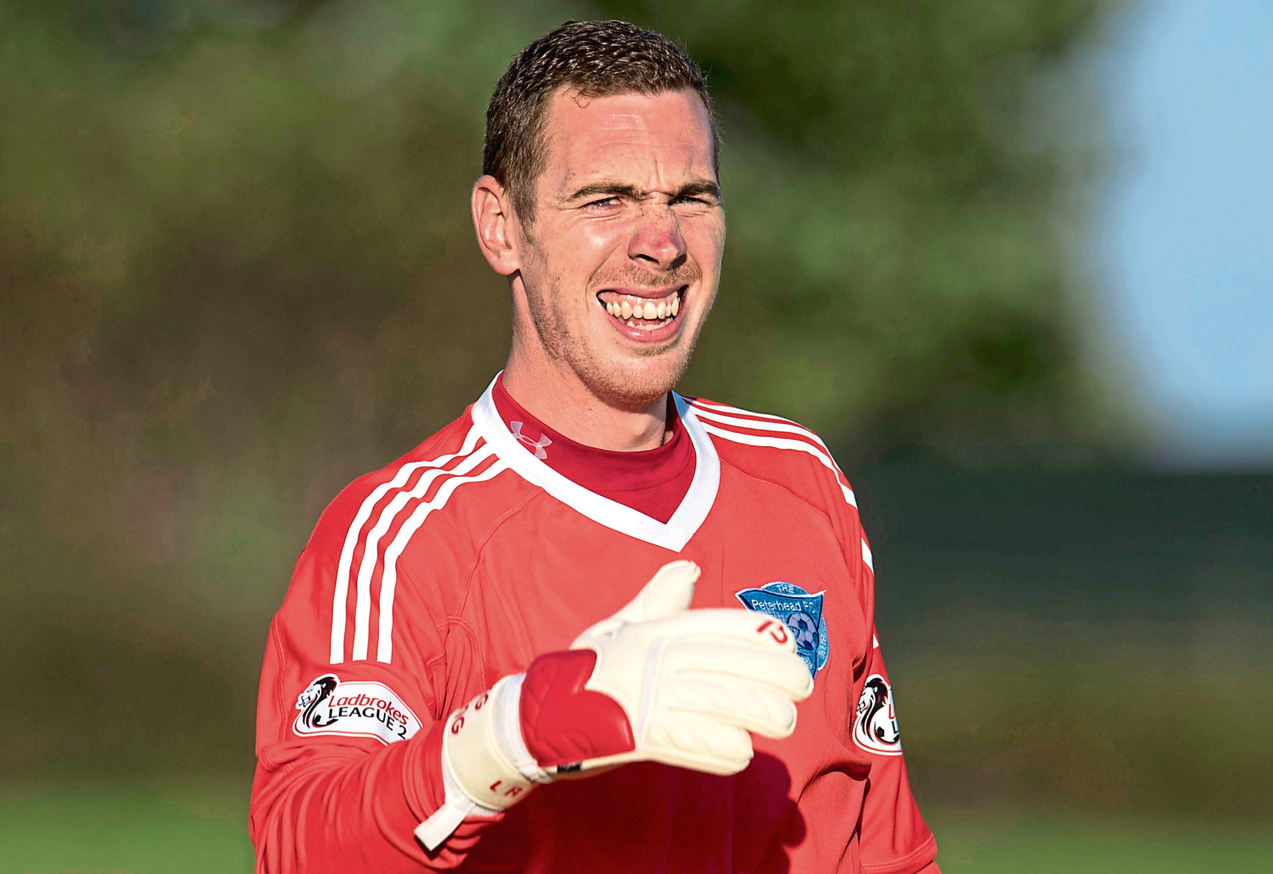 Greg Fleming in action for Peterhead