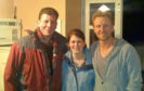 Fiddler Paul anderson and singer wife Shona with actor Kevin McKidd