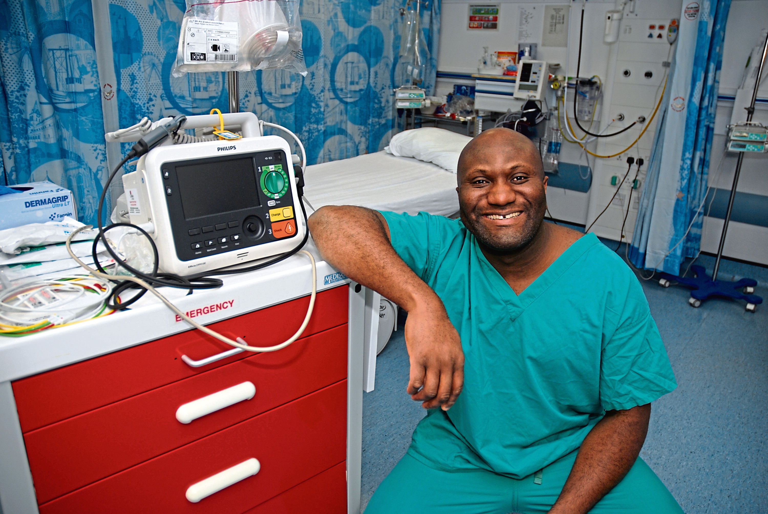Julius Donkor, senior cardiac physiologist at Aberdeen Royal Infirmary.