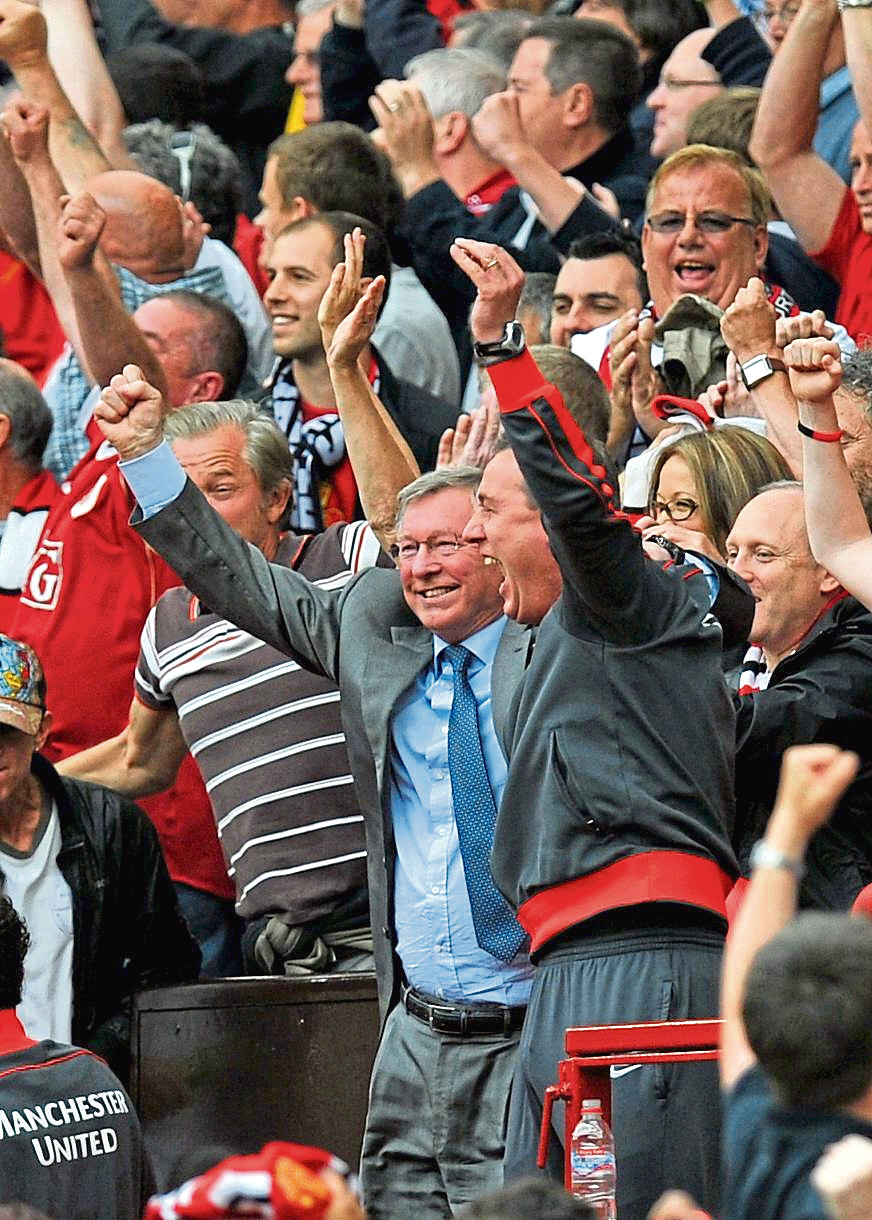 Manchester United manager Sire Alex Ferguson.
