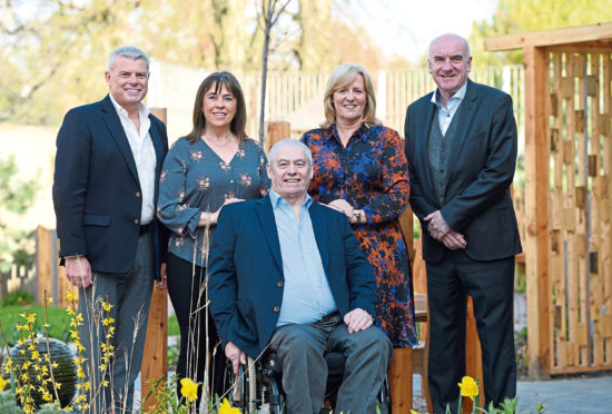 Dave and Fiona Cormack with CLAN vice chairman, Andrew Lawtie, chief executive Colette Backwell and chairman Hugh Little