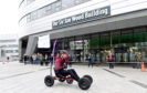 Students from RGU put their skills to the test in a go-kart race.