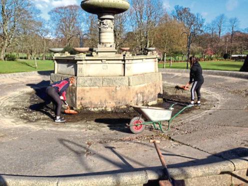 The fountain in Victoria Park
