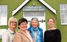 Sandra Keir, Penny Fuller, Vicky Duke and Lyndsey Fraser, at Craigievar Hall