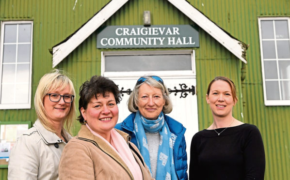 Sandra Keir, Penny Fuller, Vicky Duke and Lyndsey Fraser, at Craigievar Hall