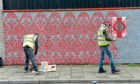 Locators of in-progress NUART. Pictured is Jopps Lane. 15/04/19 Picture by HEATHER FOWLIE