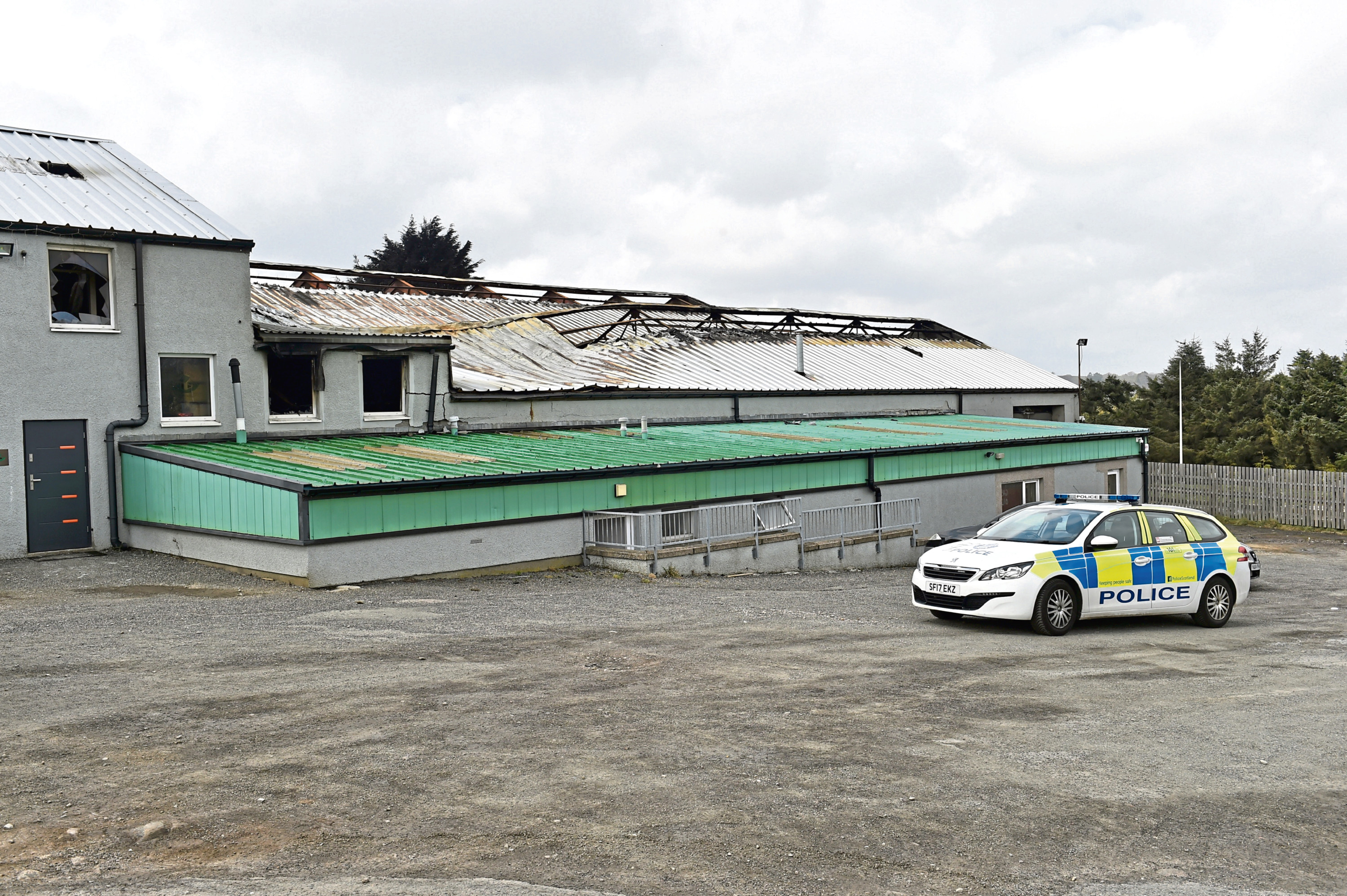Smiddybrae Works, Kingswells, near Westhill after Saturday's warehouse fire