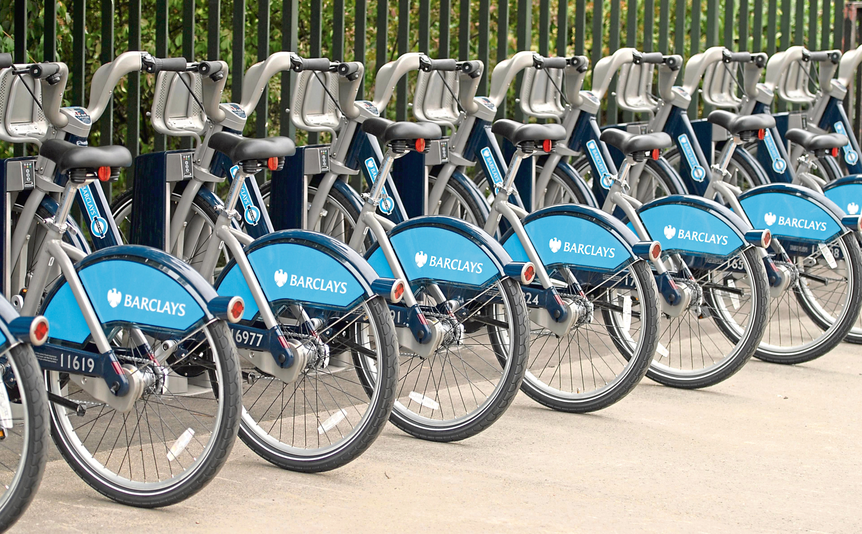 Bicycle hire schemes are proving popular in cities across Britain