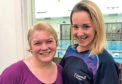 Sharon Mathers withher swimming teacher Leigh-anne Alexander