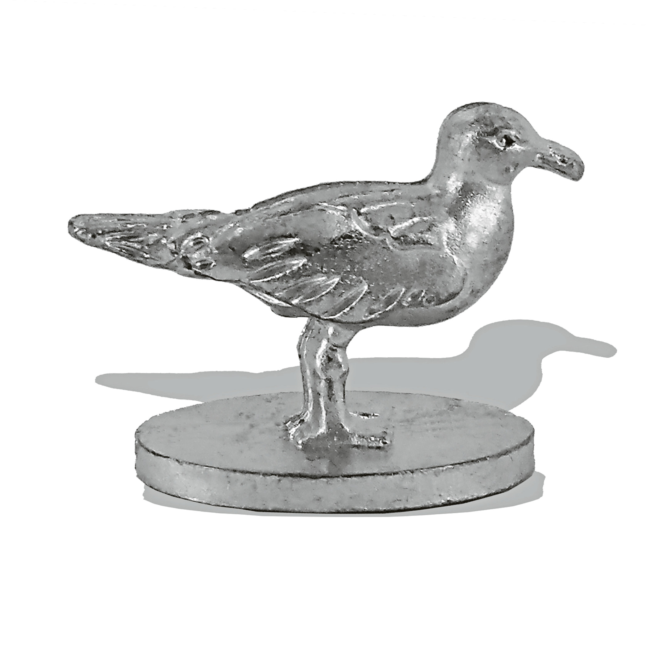 The seagull token designed for  Aberdeen Monopoly