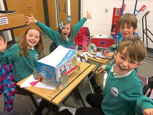 Uryside Primary School pupils hard at work