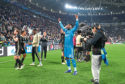 Andre Onana of Ajax celebrates victory after their Champions League quarter-final win against Juventus