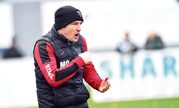 Fraserburgh manager Mark Cowie Picture by Colin Rennie