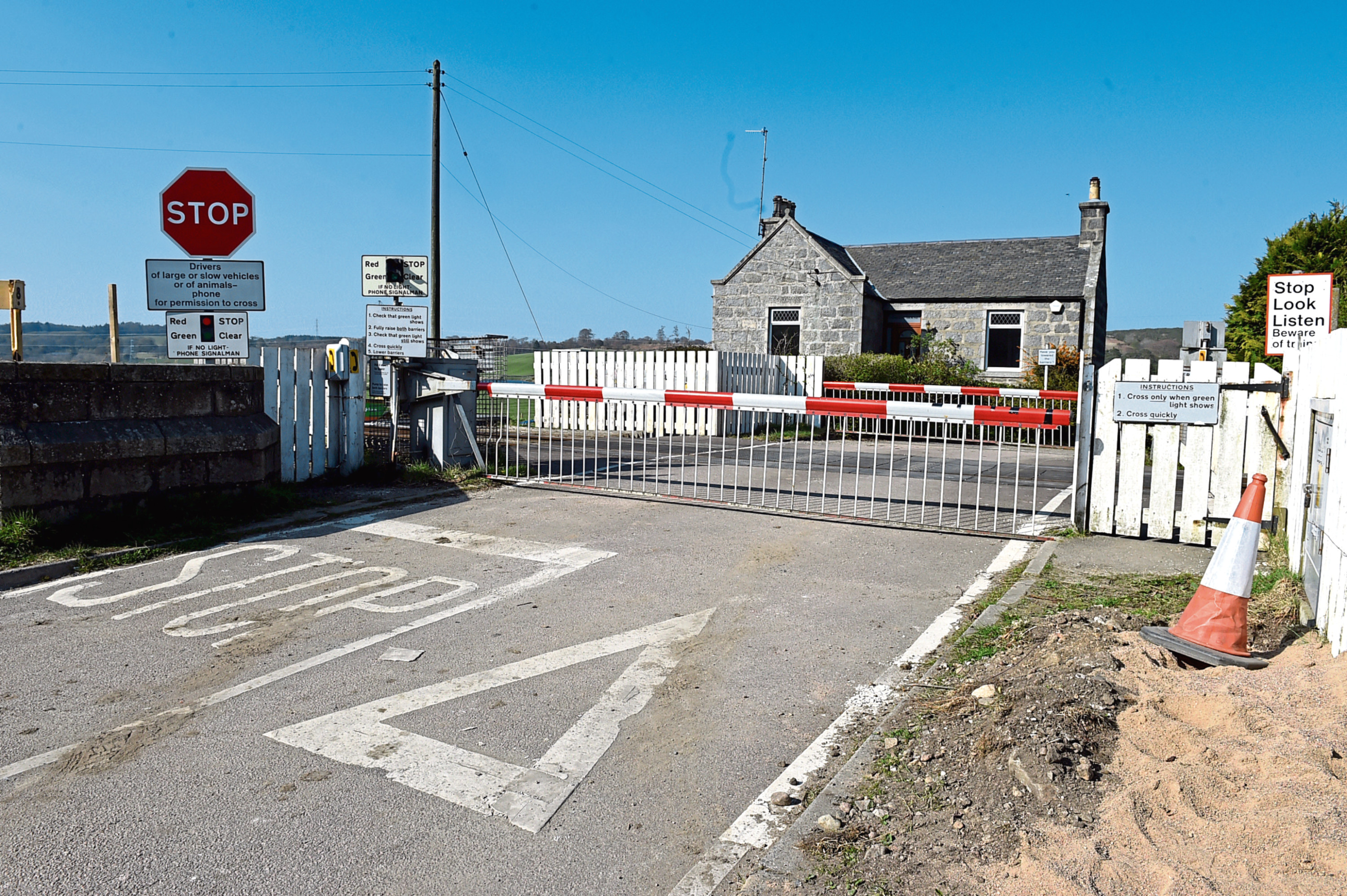 Plans have been lodged to close the level crossing on Pitmedden Road